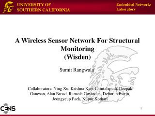 A Wireless Sensor Network For Structural Monitoring (Wisden)