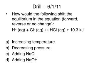 Drill – 6/1/11