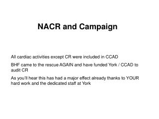 All cardiac activities except CR were included in CCAD