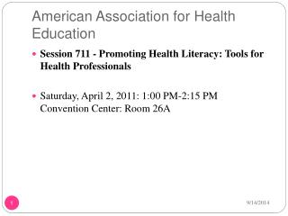 American Association for Health Education