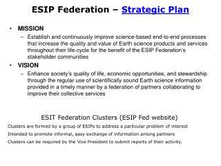 ESIP Federation –  Strategic Plan