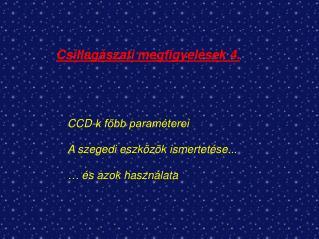 Csillagászati megfigyelések 4.