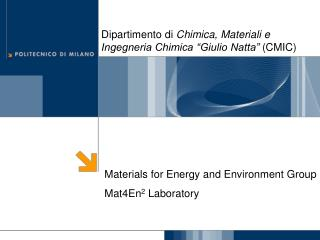 Materials for Energy and Environment Group  Mat4En2 Laboratory