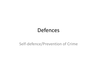 Criminal Law    General Defences  Mistake
