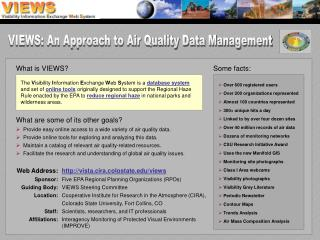 VIEWS: An Approach to Air Quality Data Management