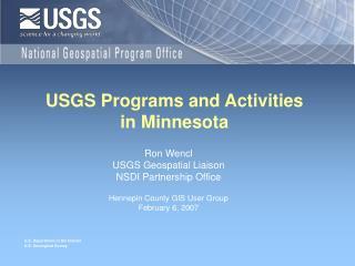 USGS Programs and Activities  in Minnesota