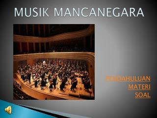 MUSIK MANCANEGARA