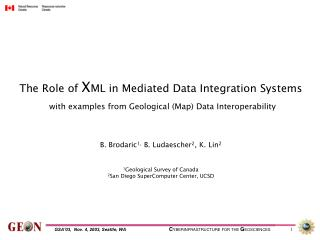 The Role of  X ML in Mediated Data Integration Systems