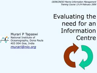 ODINCINDIO Marine Information Management Training Course 13-24 February 2006