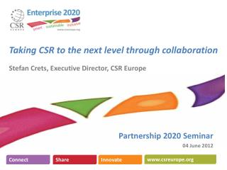 Partnership 2020 Seminar 04 June 2012