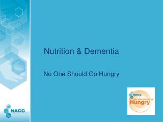 Nutrition & Dementia