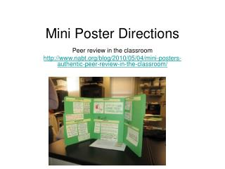 Mini Poster Directions