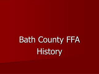 Bath County FFA  History