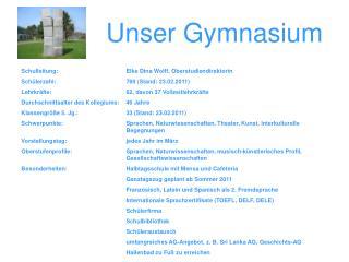 Unser Gymnasium
