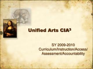 Unified Arts CIA 3
