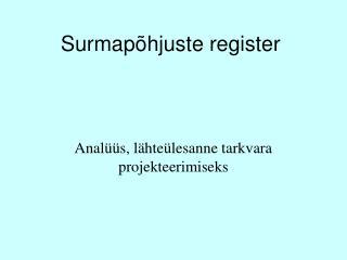 Surmapõhjuste register