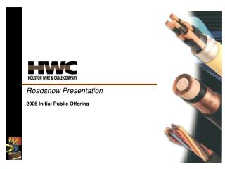 Roadshow Presentation
