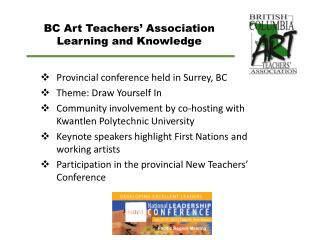 BC Art Teachers'  Association Learning and Knowledge