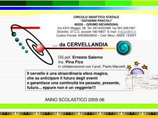 """CIRCOLO DIDATTICO STATALE """"GIOVANNI PASCOLI"""" 80028 – GRUMO NEVANO(NA)"""