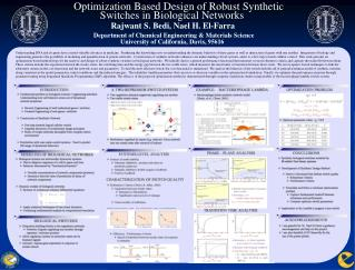 Optimization Based Design of Robust Synthetic