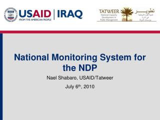 National Monitoring System for the NDP