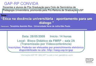 GAP-RP CONVIDA