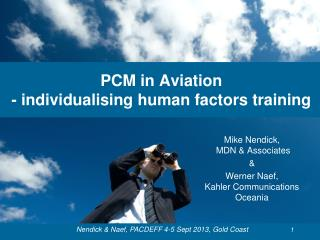 PCM in Aviation - individualising human factors training