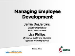Managing Employee Development
