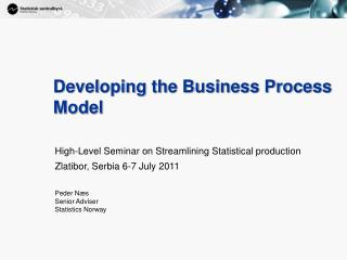Developing the Business Process Model