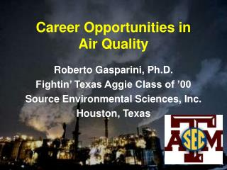Career Opportunities in Air Quality