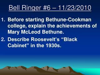 Bell Ringer  #6  –  11/23/2010