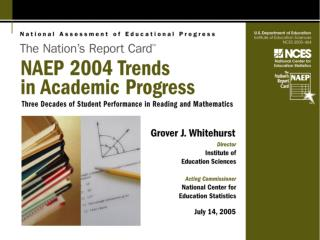 NAEP 2004 Trends in Academic Progress