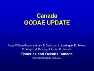 Canada GODAE UPDATE