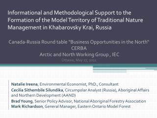 Natalie  Ireena , Environmental Economist, PhD., Consultant