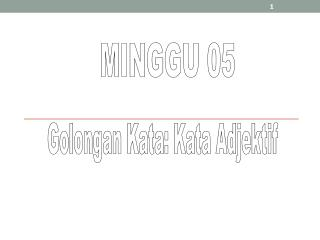 MINGGU 05