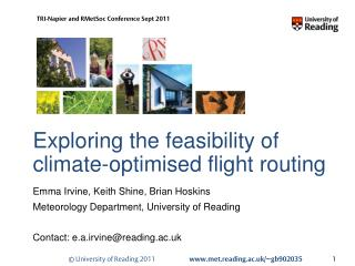 Exploring the feasibility of climate-optimised flight routing
