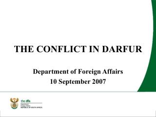 THE CONFLICT IN DARFUR