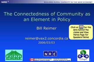 The Connectedness of Community as an Element in Policy