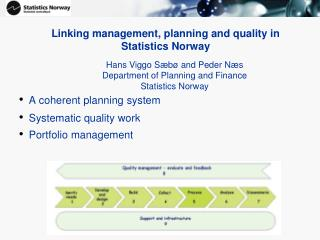 Linking management, planning and quality in  Statistics Norway