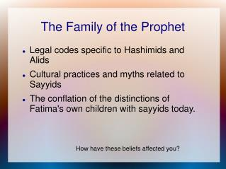 The Family of the Prophet