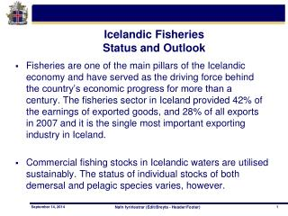 Icelandic Fisheries Status and Outlook
