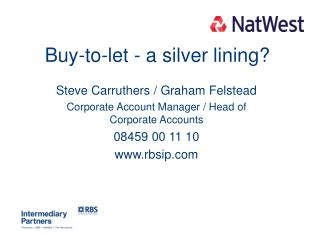 Buy-to-let - a silver lining?