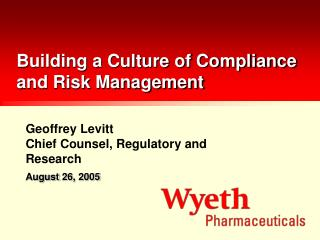 Building a Culture of Compliance and Risk Management