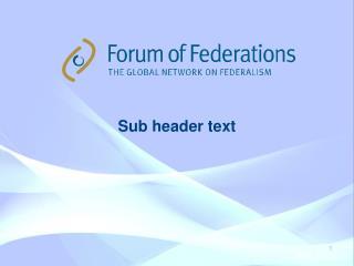 Sub header text