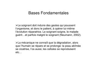 Bases Fondamentales
