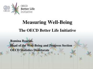 Measuring Well-Being   The OECD Better Life Initiative