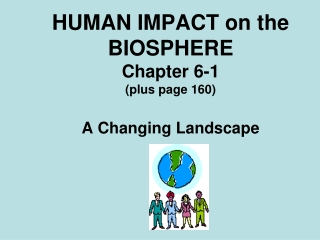 HUMAN IMPACT on the BIOSPHERE Chapter 6-1 plus page 160   A Changing Landscape