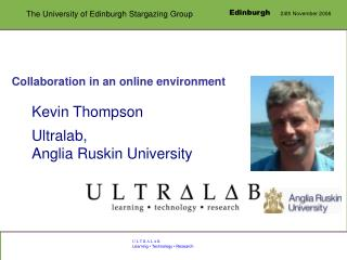 Collaboration in an online environment