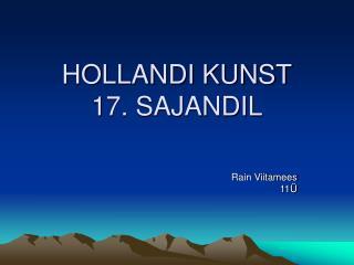 HOLLANDI KUNST 17. SAJANDIL
