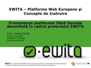 EWITA – Platforme  Web Europene şi Concepte de Instruire